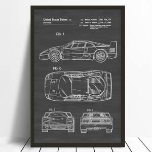 Top 10 largest vintage blueprint list blingird office print wall decor vintage art car poster malvernweather Choice Image