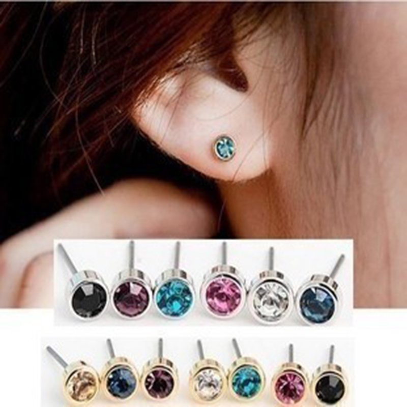 2018 Time-limited Aros Steel Jewelry Women Perlas Trendy Brinco Earings Colorful Round Small Mini Claw Post Stud Earrings Back Special Summer Sale
