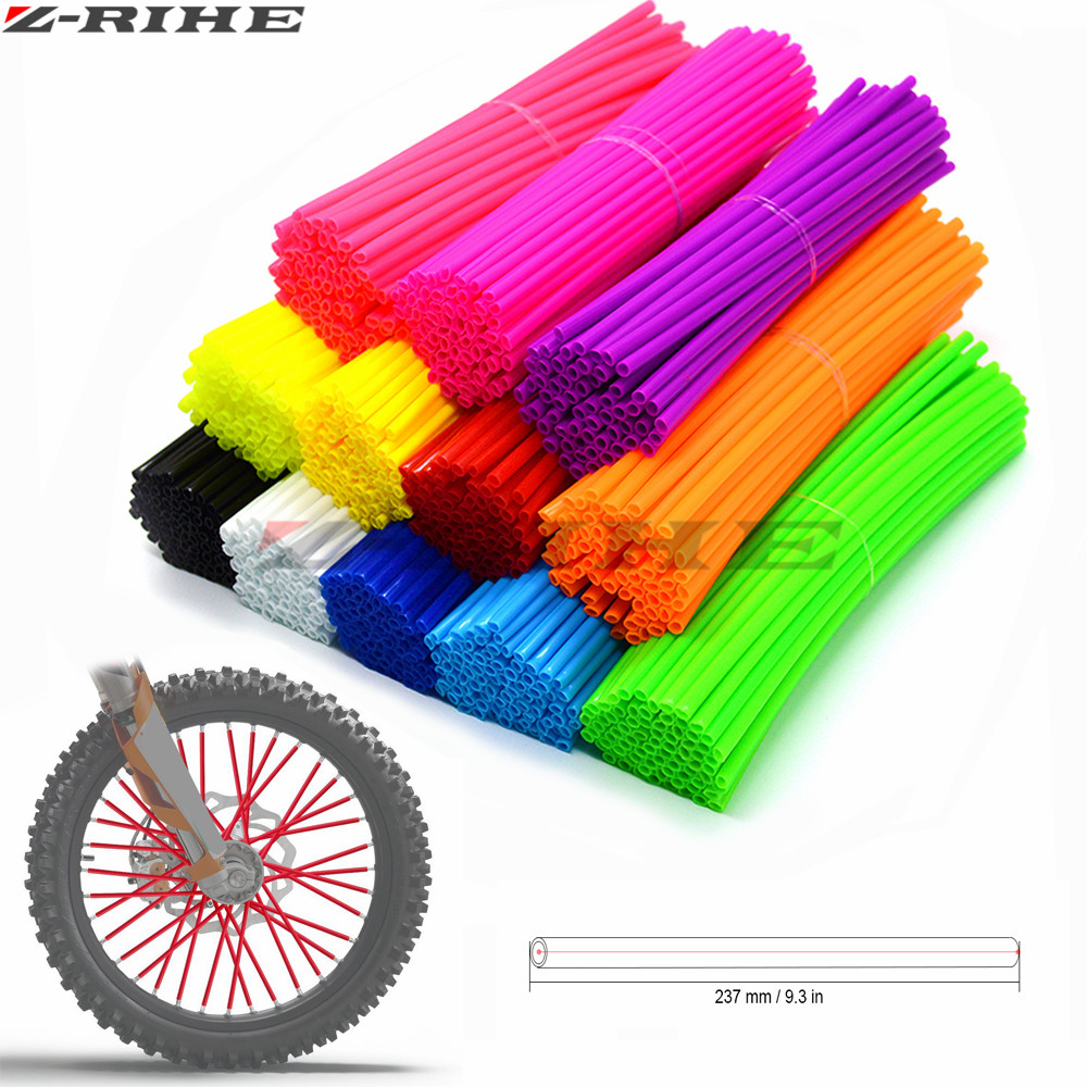 Motorcycle Wheel Rim Spoke Skins Covers Wrap Tubes Decor FOR ktm EXC f DR DRZ RM RMX RMZ 85 125 250 400 450 Kawasaki Yamaha universal motorcycle bicycle accessories bike wheel rim spoke skins for ktm bmw yamaha kawasaki suzuki ducati aprili r3 r1 tmax