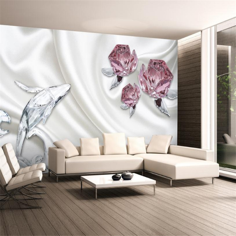 Custom Pink Wallpaper For Girls Room Modern Desktop Wall Murals