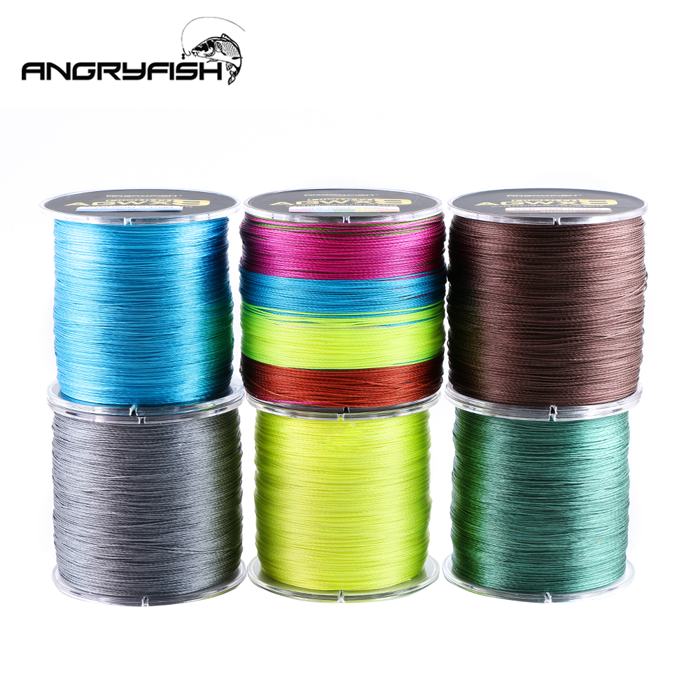 Image 4 - Angryfish 500M 9 Strands Super Multicolor PE Braided Fishing Line Strong Strength Fish Line-in Fishing Lines from Sports & Entertainment