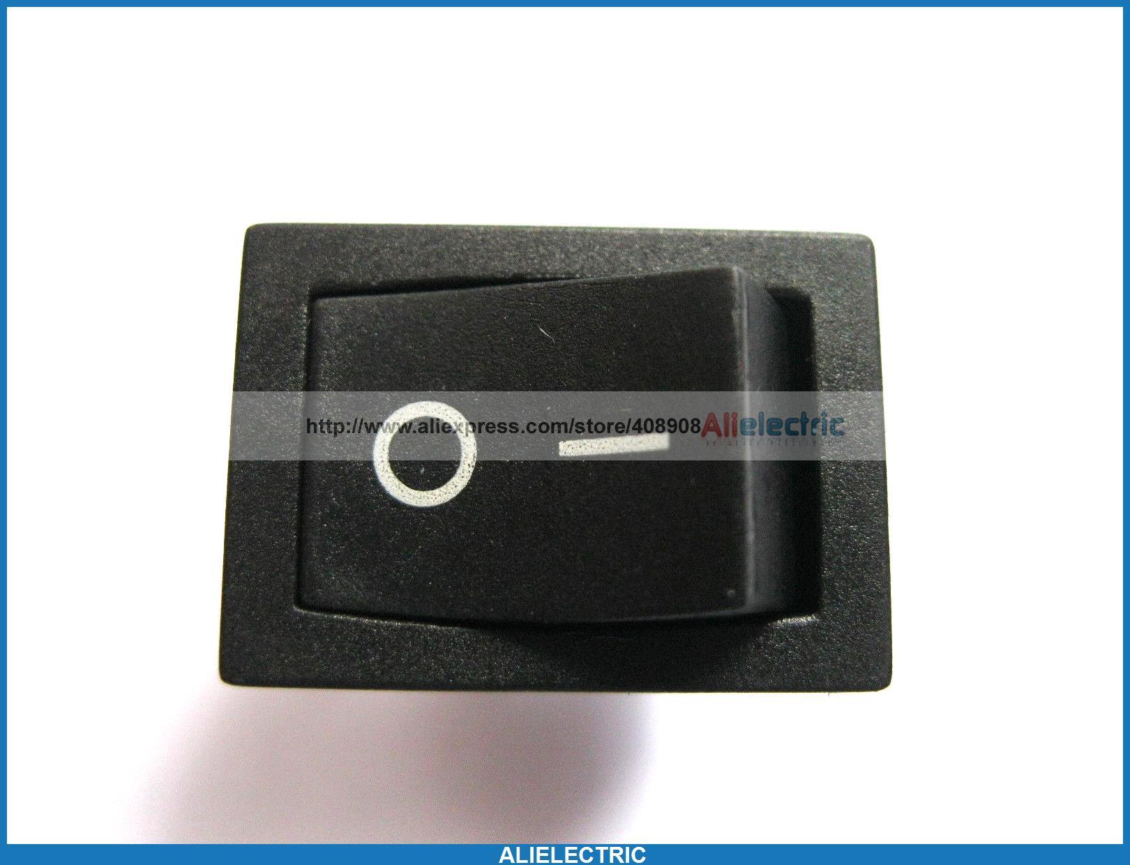 80 pièces Interrupteur À Bascule KCD1 101 sur Off Bouchon Noir 2pin 6A 10A 21x15mm