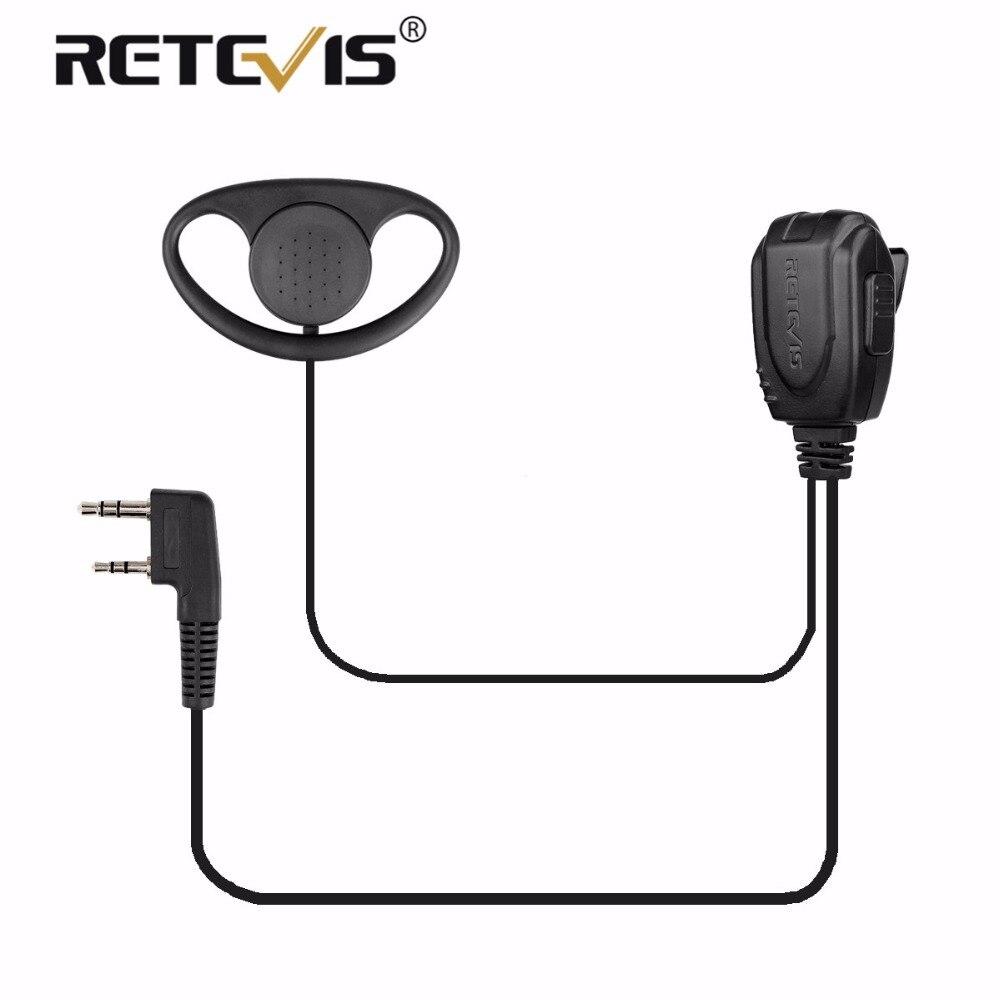 D-typ Ohrbügel Ohrhörer Headset Walkie Talkie Kopfhörer Für Retevis H777/RT21/RT22/RT81/RT7 für Kenwood Baofeng UV5R UV-82 888 S