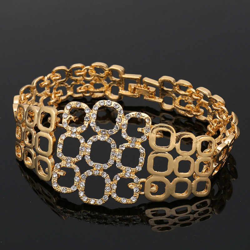 Fani 2018 Thời Trang Phi Hạt Trang Sức Bộ Phụ Nữ khách hàng Dubai Vàng-đầy màu sắc Bộ Đồ Trang Sức Bán Buôn nigeria bridal bead bộ