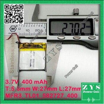 7 V | Imballaggio Di Sicurezza (livello 4) Batteria 3.7 V 400 MAh Li-ion Batteria Ricaricabile 3.7 V 400 Mah Formato: 5.8x27x27mm 582728 582727