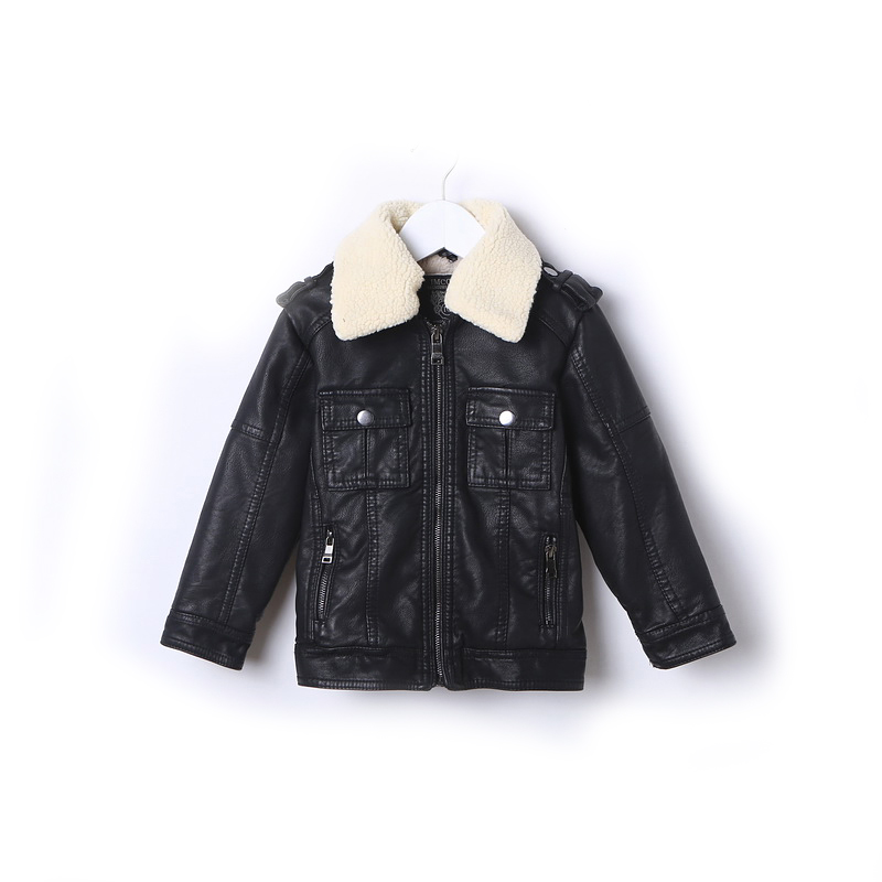Spring Autumn Kids Jacket PU Leather boy Jackets Clothes Children Outwear For Baby boys jackets 533 2 14t baby boy clothes boys jacket leather spring letter boys outwear for children kids coats for boys baseball sweatershirt