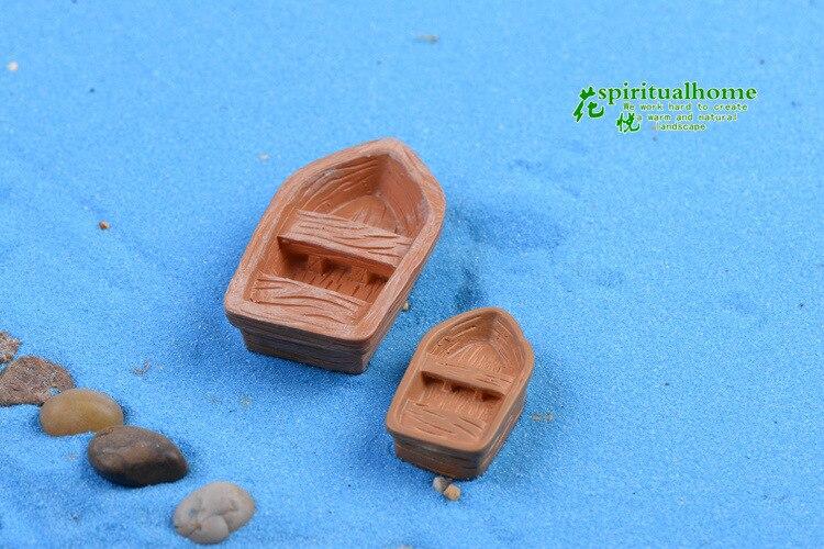 1 шт. дешевые мини-лодка 3 см и 5 см миниатюрная мебель для сада DIY прекрасные милые лодка украшения Сказочный Сад для Миниатюрный Сад
