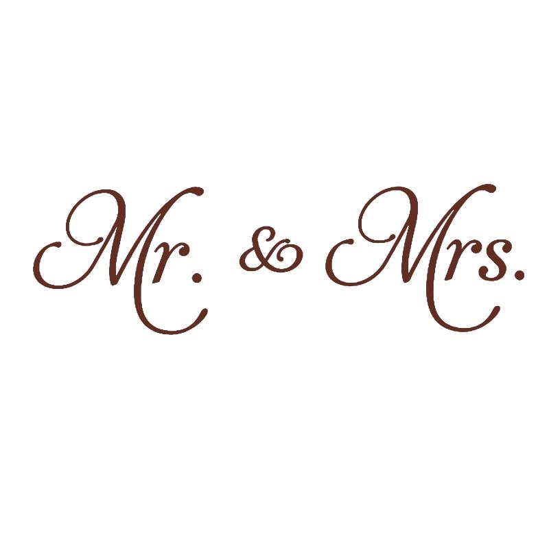 Mr Mrs Vinilo Pegatinas De Pared Adhesivo Decoración