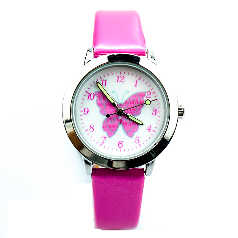Gift El Reloj Clock Children's Watches Free Shipping Little Boys And Girls Lovely Flower Dial Jelly Leather Watch Kids Learn To Time Colorful No