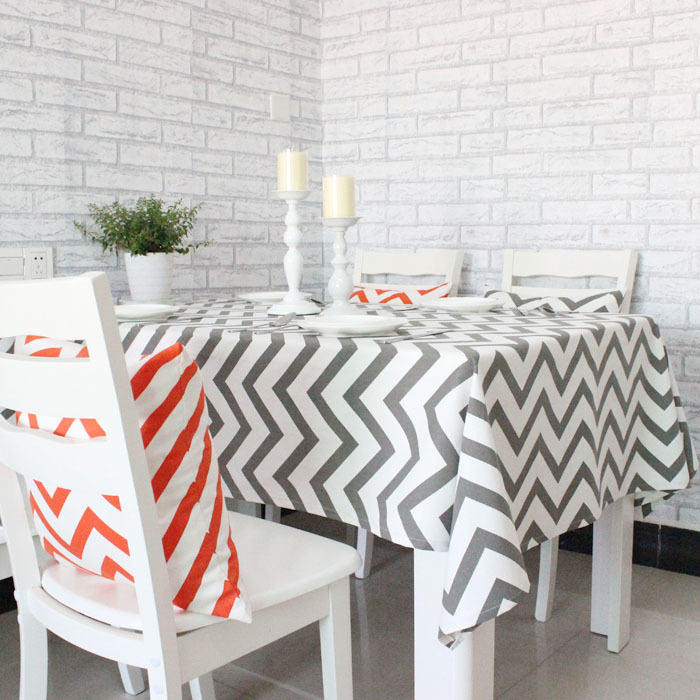 Gentil Wave Geometric Printing Cotton Table Tablecloths Simple And Stylish Coffee Table  Cloth Stripes In Tablecloths From Home U0026 Garden On Aliexpress.com | Alibaba  ...
