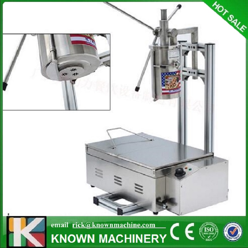 most popular !!!Free Shipping Stainless steel 5L Manual Spanish Donut Churros filling machine with fine frying oven commercial stainless steel churro machine 25l electric fryer manual spanish churros maker 4 nozzles