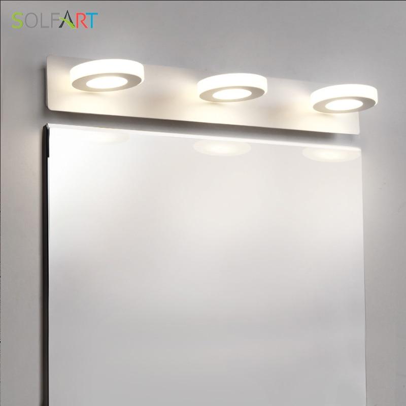 Solfart lighting modernmodern led sconce wall light paint for Painting metal light fixture bathroom