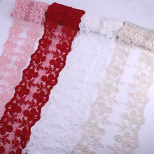 H014 2y organza bilateral tricô casamento bordado diy artesanal retalhos rendas guarnição fita costura suprimentos artesanato