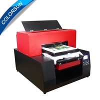 Colorsun Automatic A3 size T shirt Flatbed printer Textile Flatbed Printer for Cotton T Shirt Printing DTG dark t shirt printer
