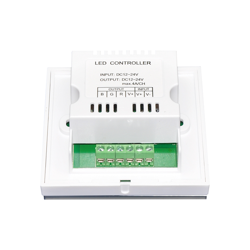 NEW DC12V-24V 4A/CH 3Channel Touch Panel Wall Mounted led controller RGB LED Controller Switch For DIY Home Lighting