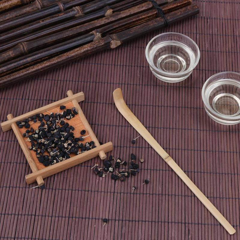 Бамбуковая чайная ложка для чая, аксессуары для чайной церемонии ручной работы