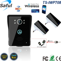 Saful Wifi Doorbell 7 TFT Color Video Door Phone Clear Photos Camera Intercom Doorbell System Doorphone