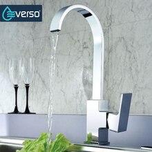 EVERSO Verchromt Kitchen Sink Wasserhahn Mischbatterie Wasserfall Wasserhahn Torneira De Cozinha Grifo Cocina
