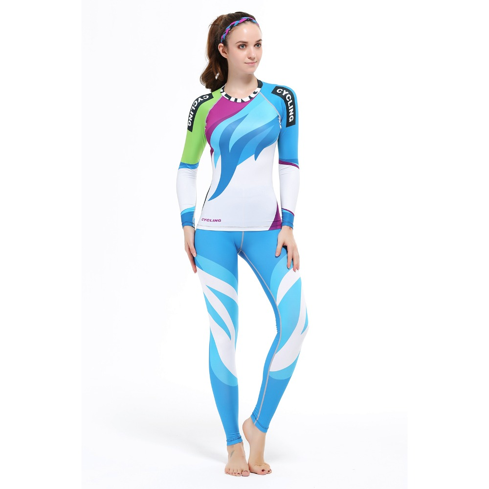 2016 New Arrival Running Sports Shirt Women Yoga Sets Two Pieces Breathable Suit High Quality Quick-Drying Gym Sports Suits 2017 women yoga sets 3 pieces t shirt bra pants fitness workout clothing women gym sports tops running slim leggings sport suit