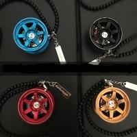 TOYIKIE JDM Style Car Tuning Wheel Rim Keychain Key Chain Auto Turbo JDM Keyring With Disc