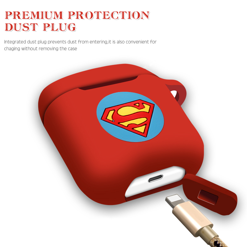 Image 5 - Marvel Wireless Bluetooth Earphone Case For Apple AirPods Charging Headphones Protection Cases Cover Charging Box Accessories-in Earphone Accessories from Consumer Electronics
