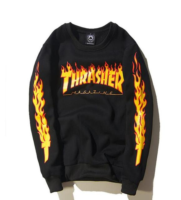 Sponge mice hoodie dos homens hip hop preto chama de manga comprida pulôver de lã camisola men streetwear mens clothing moda do moderno