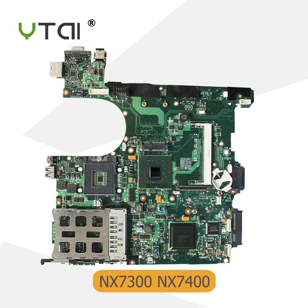 YTAI for hp Compaq NX7300 NX7400 Laptop Motherboard 6050A2042401-MB-A02 DDR2 mainboard крепление для жк дисплея ноутбука hkyrd 15 4 hp compaq nx7300 nx7400 f0925 t15