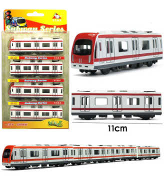 High Simulation Miniature Subway 44 5cm Long Train Scale Metal Car Model  Diecast Kids Pocket Toys Collection Best Gifts Toys