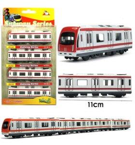Image 2 - Modelo de coche de Metal en miniatura para niños, juguete de simulación de tren de 44,5 cm de largo, modelo de coche de Metal fundido a presión, colección de juguetes de bolsillo