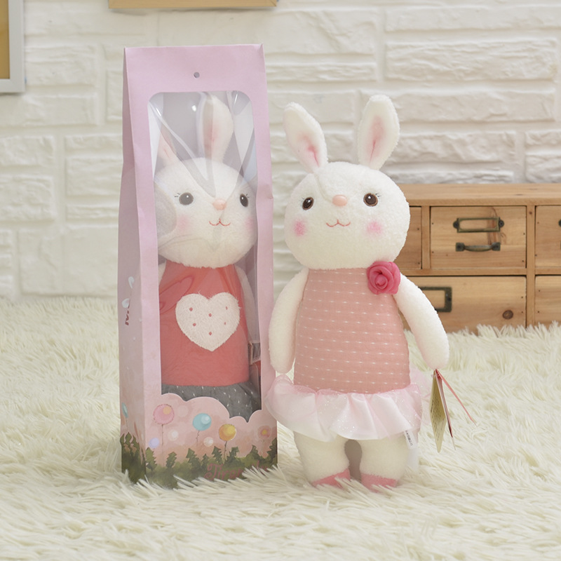 Plush-Sweet-Cute-Lovely-Stuffed-Baby-Kids-Toys-for-Girls-Birthday-Christmas-Gift-11-Inch-Tiramitu-Rabbits-Mini-Metoo-Doll-4