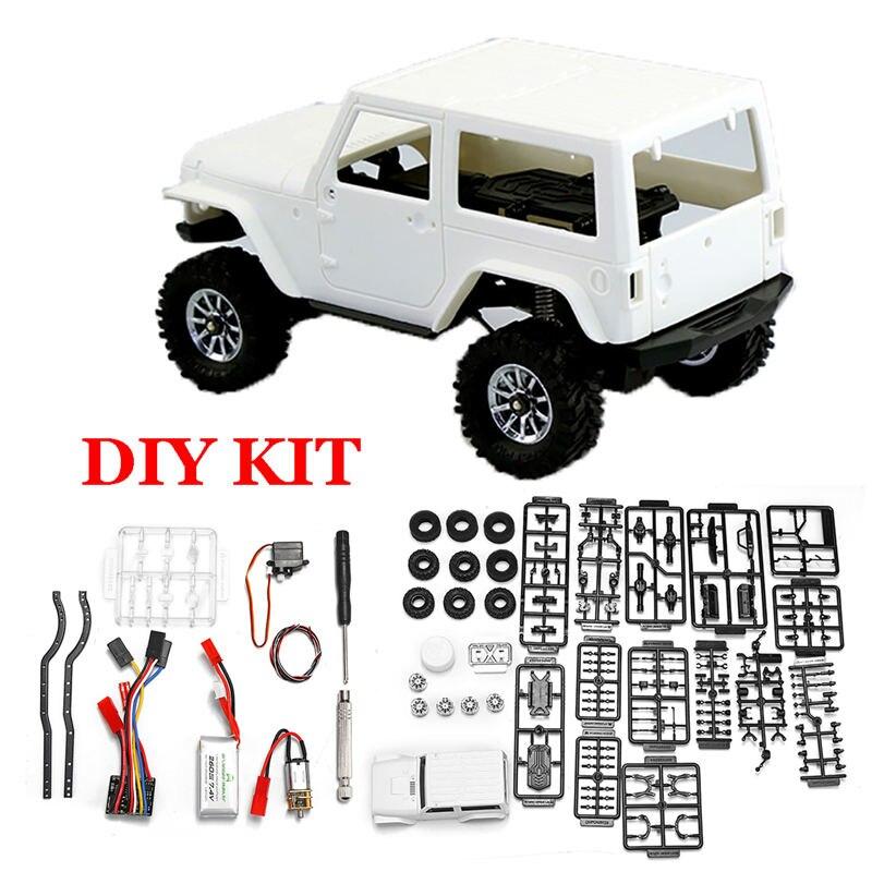 Bricolage 1:35 RC voiture modèle Kit 4WD avant et arrière essieu verrouillé 120r/min réduire la vitesse moteur 7.4 V 260 mAh batterie pour Orlandoo