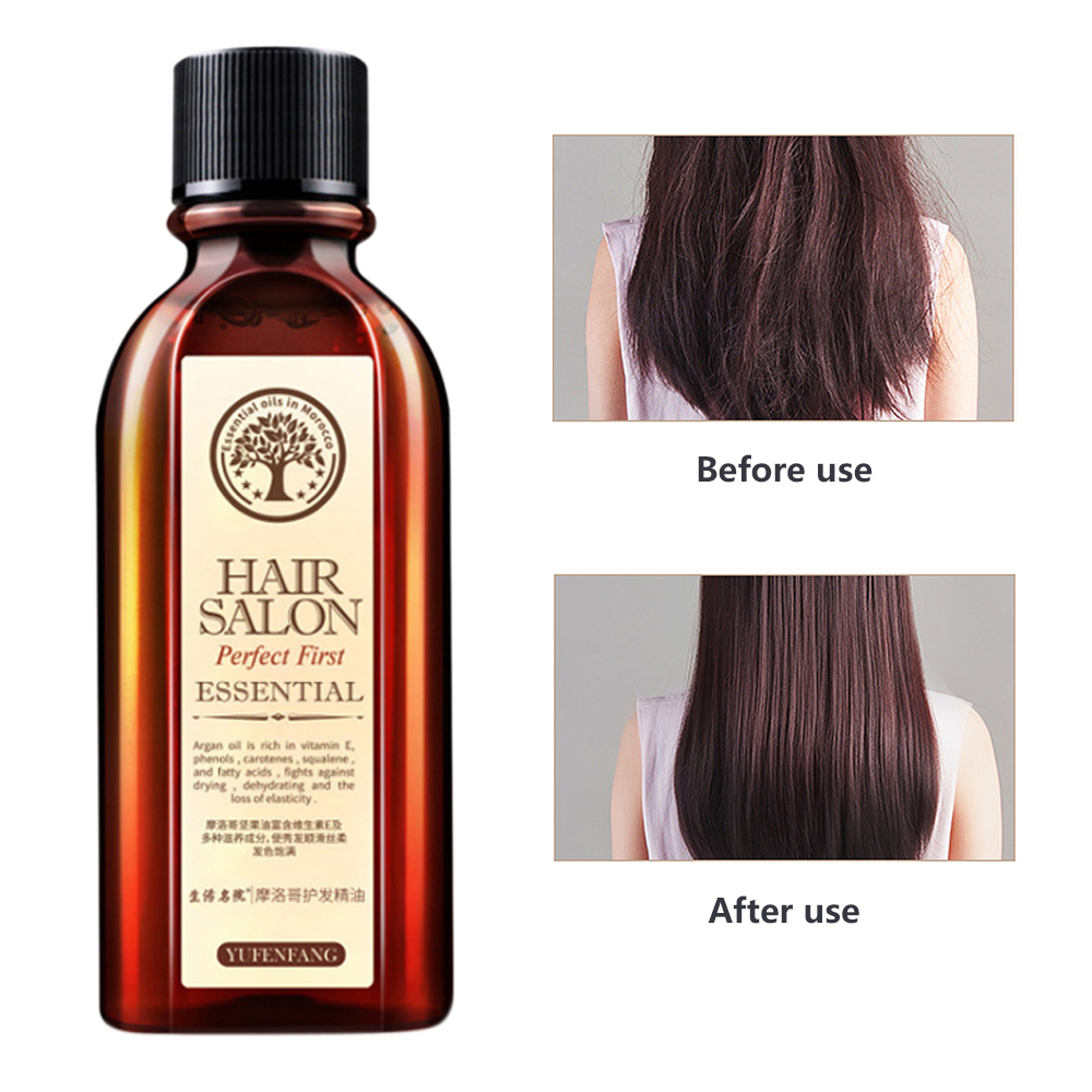 Top Quality Hair Care Essence Treatment Oil Argan Oil Keratin Free Clean Hairs Curly Hair Growth Hairs Care Mask 20/60/70/100ml image
