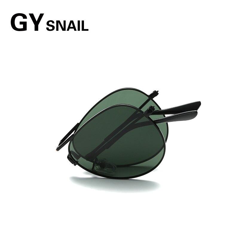 Gafas de sol plegables de piloto GYsnail para hombre polarizadas para mujer, gafas de sol plegables Vintage de diseñador de marca de moda para mujer Oculos 2018