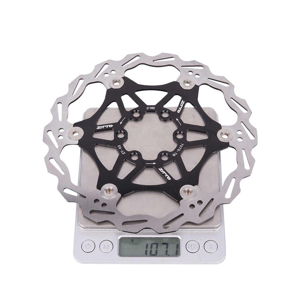 ZTTO 180mm 160mm DH frein Rotor flottant en acier inoxydable vtt disque plaquettes de frein hydrauliques pour montagne route CX vélo pièces de vélo