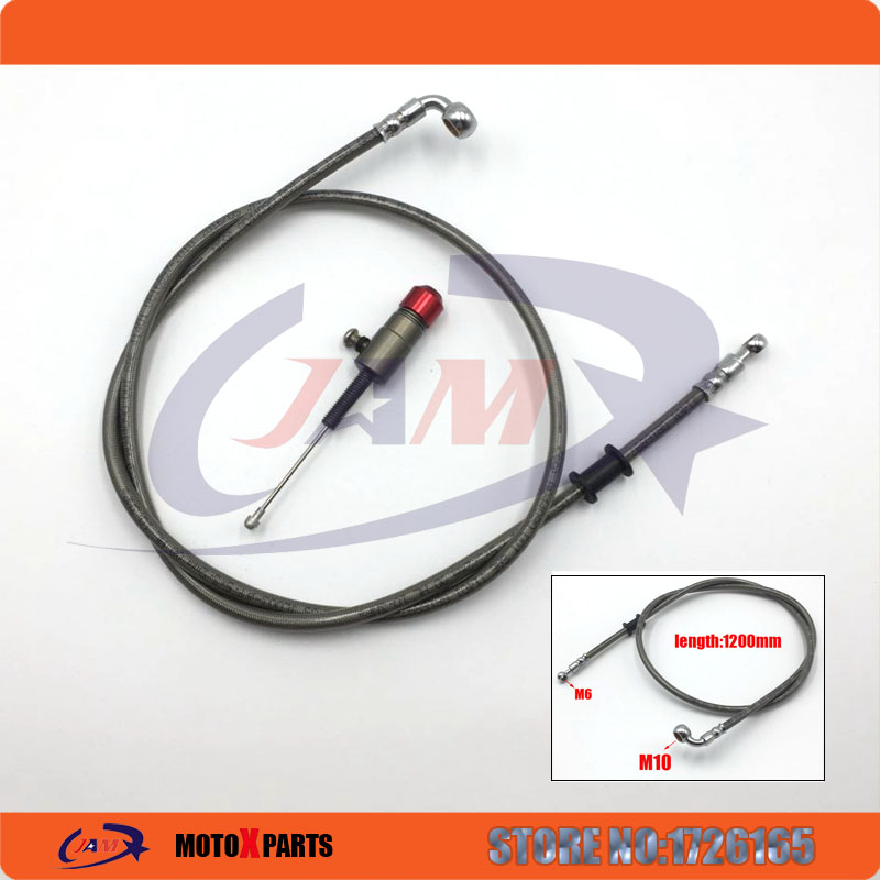 Hydraulic Clutch parts M10x1.2M oil hose and master cylinder pump refitting for Dirt Pit Bike ATV quad Motorcycle use pit bike dirt bike atv motorcycle hydraulic reinforced brake or clutch oil hose line pipe spare parts