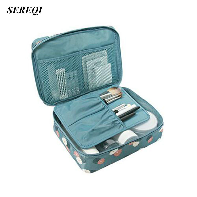 SEREQI Travel Waterproof Toiletry Towel Storage Bag Women Makeup Organizer Case Cosmetic ...