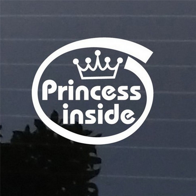 New princess inside car stickers vinyl car bumper window decal removable auto decal