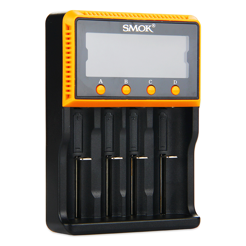 New SMOK Intelligent 4-Slot Charger Portable Smart 18650/18350 Battery Charger Li-ion/Li-FePO4/Ni-MH/Ni-CD Battery Charger new 8pcs 1 5v aa lithium polymer rechargeable battery 3000mwh 4 slots usb charger 2a li ion cell replace ni mh type battery