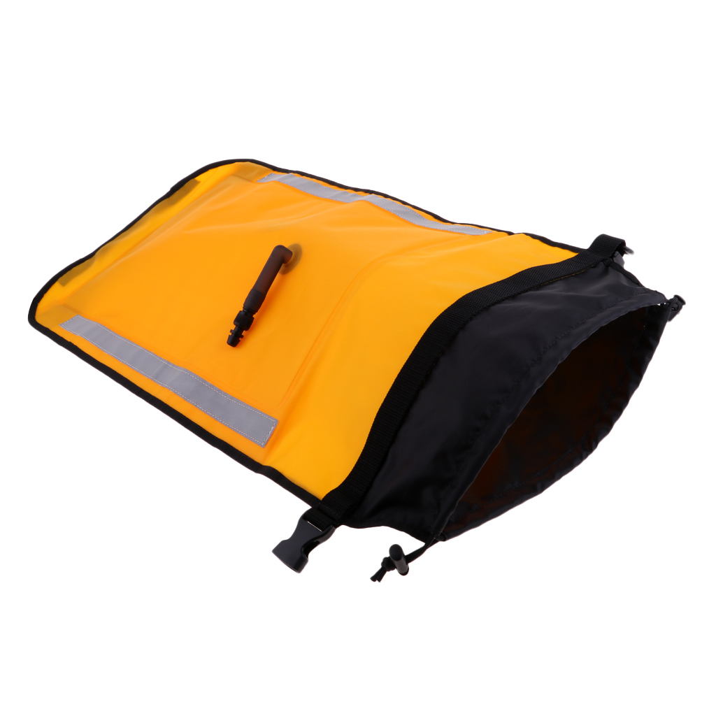 Dual Chamber Inflatable Paddle Float Bag For Sea Kayak Paddle Blades Bright Yellow Water Sports Accessories