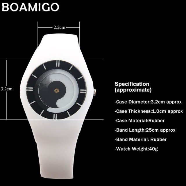BOAMIGO creative women sport quartz watches fashion dress ladies rubber band watches women's red blue wristwatches clock relojes