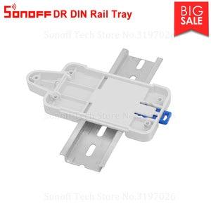 Image 2 - Itead Sonoff DR DIN рейка лоток монтируемый регулируемый держатель Поддержка большинства продуктов Sonoff Basic RFR2 RFR3 POWR2 TH10/16 Dual