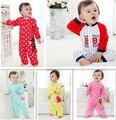 2014 nuevo 100% mamelucos del bebé del algodón muchos estilos de manga larga niño y niña ropa ropa de bebé