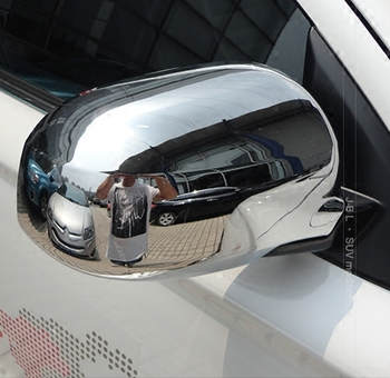 Silver Full / Half Cover Mirror & Covers For Mitsubishi Outlander 2006 2007 2008 2009 2010 2011 2012Z2AAI033