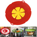 2016 Newest Arrival  Kitchen Gadgets Silicone Lid Spill Stopper / Pot Cover 28cm Diameter Cooking Pot Lids Utensil Free Shipping