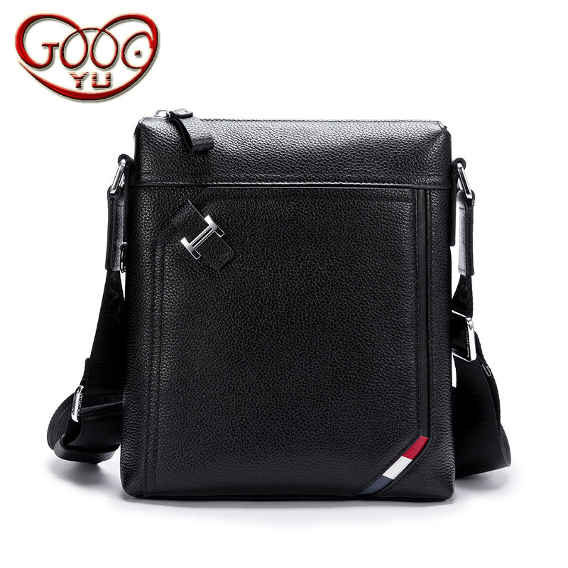 Men s fashion business solid color solid shoulder bag vertical section square first layer of leather zipper Messenger bagMen s fashion business solid color solid shoulder bag vertical section square first layer of leather zipper Messenger bag