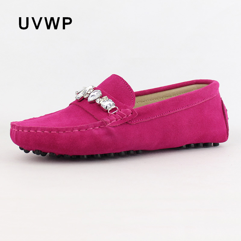 Shoes Flats Slip-On Women Genuine-Leather Loafers Female Soft Casual