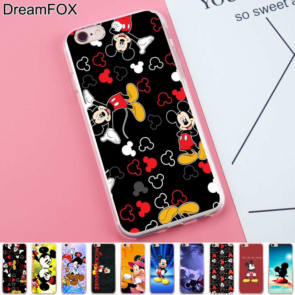 dreamfox k095 flying carpet mickey mouse soft tpu silicone case