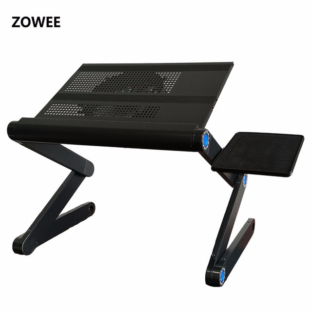 Adjustable Portable Laptop Table Stand Lap Sofa Bed Tray Computer Notebook Desk Bed Table With Mouse Table Zw Cd10