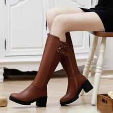 ขนาด34-39รองเท้าเข่าฟรีค่าจัดส่งผู้หญิงแฟชั่นรองเท้าหิมะฤดูหนาวรองเท้าส้นสูงเซ็กซี่อบอุ่นรองเท้าแพลตฟอร์ม
