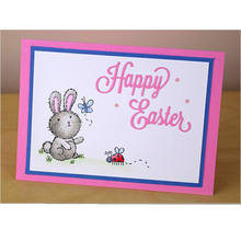 Word Happy Easter Metal Cutting Dies Stencils DIY Scrapbooking Album Paper Cards Craft Decoration Embossing 2019